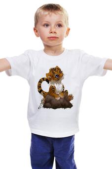 """Детская футболка классическая унисекс """"Тигрёнок """" - мимимишка"""