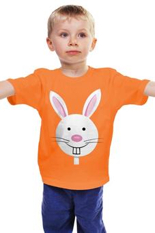 """Детская футболка """"Заяц-забегаец"""" - рисунок, заяц, детский, мульт, кролик"""