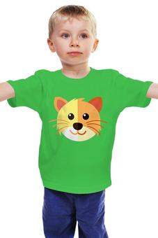 """Детская футболка классическая унисекс """"Котик"""" - кот, тигренок"""