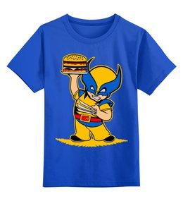 """Детская футболка классическая унисекс """"росомаха (  Wolverine )"""" - росомаха, люди икс, wolverine, джеймс хоулетт"""