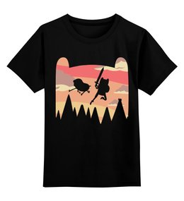 """Детская футболка классическая унисекс """"Время Приключений"""" - череп, adventure time, время приключений, фин и джейк"""