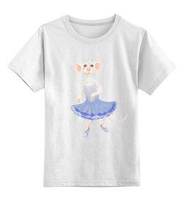 """Детская футболка классическая унисекс """"Мышка балерина"""" - мышка, балерина"""
