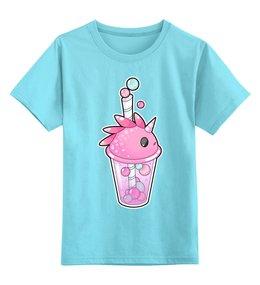 """Детская футболка классическая унисекс """"Пузырьковое настроение(дракон-единорог)"""" - единорог, дракон, арт"""