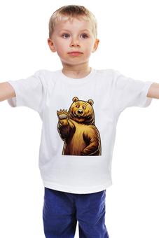 """Детская футболка """"Привет Мишка"""" - bear, мишка, дети, сочи, мишкин парк"""