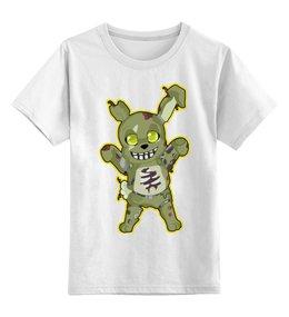 """Детская футболка классическая унисекс """"Пять ночей у Фредди ( Five Nights at Freddy's )"""" - пять ночей у фредди, фнаф, fnaf, five nights at freddys"""