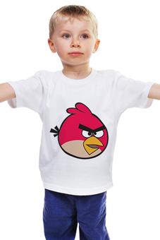 """Детская футболка классическая унисекс """"Angry birds"""" - игры, дети, семья, angry birds, ребенок"""