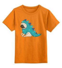 """Детская футболка классическая унисекс """"Мопс (Pug)"""" - pug, собака, дракончик, мопс, собачка в костюме"""
