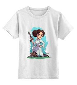 """Детская футболка классическая унисекс """"Принцесса Лея"""" - star wars, фильмы, звездные войны, принцесса лея"""
