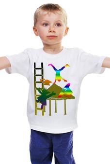 """Детская футболка классическая унисекс """"Каникулы"""" - дети, шляпа, школа, каникулы, акробатика"""