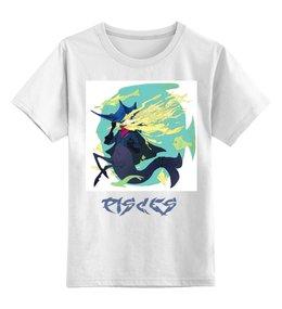 """Детская футболка классическая унисекс """"Знак зодиака Рыбы"""" - знак зодиака рыбы, символ знака рыбы, малыш рыбы, ребенок рыбы, девочка рыбы"""