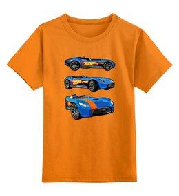 """Детская футболка классическая унисекс """"Машинки"""" - гонки, авто"""