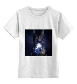 """Детская футболка классическая унисекс """"Кошка"""" - животные, мир, космос, земля, кошки"""