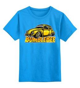 """Детская футболка классическая унисекс """"Бамблби"""" - роботы, машины, трансформеры, фатастика, бамблби"""