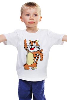 "Детская футболка классическая унисекс ""Тигренок"" - тигр, тигренок, гороскоп, год тигра"