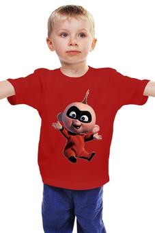 """Детская футболка классическая унисекс """"Супергерой """" - малыш супергерой"""