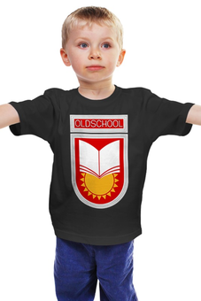 """Детская футболка """"Oldschool"""" - ссср, олдскул, эмблема, старая школа, образование"""