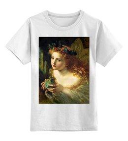 "Детская футболка классическая унисекс ""Take the Fair Face of Woman"" - картина, фэнтези, софи андерсон"
