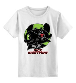 """Детская футболка классическая унисекс """"Ночная Фурия (Night Fury)"""" - как приручить дракона, ник фьюри"""