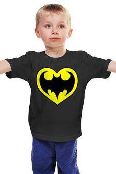 """Детская футболка """"Я люблю Бэтмена"""" - комиксы, batman, супергерои, бэтмен, человек-летучая мышь"""