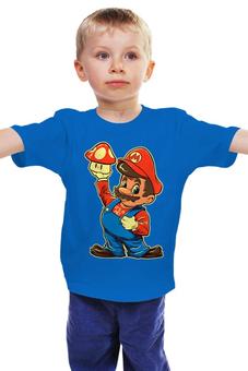 "Детская футболка классическая унисекс ""Супер Марио"" - nintendo, super mario, mario bros, супер марио, видеоигры"