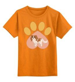 """Детская футболка классическая унисекс """"Любимая собачка"""" - 2018, год собаки, след собаки, сердечко, новый год"""