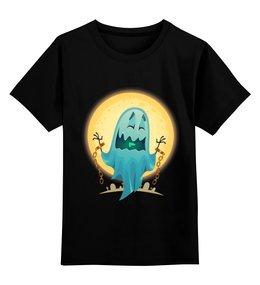 """Детская футболка классическая унисекс """"Хэллоуин"""" - хэллоуин, привидение"""