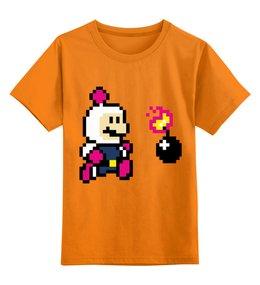 "Детская футболка классическая унисекс ""Bomberman"" - mario, бомба, марио, бомбермен, bomberman"