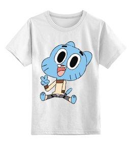 """Детская футболка классическая унисекс """"Гамбол"""" - гамбол, удивительный мир гамбола"""