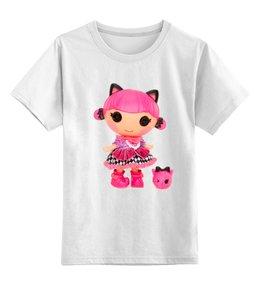 "Детская футболка классическая унисекс ""КОШКА КИТИ.ИГРУШКА. МУЛЬТ. KITTY."" - кошка, kitty, кукла, мульт, кити"