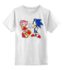 """Детская футболка классическая унисекс """"SonAmy"""" - sonic, amy, hedgehog, соник, еж соник"""