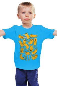"""Детская футболка классическая унисекс """" Джейк Пёс. Время приключений"""" - adventure time, время приключений, finn and jake, финн и джейк, джейк пёс"""