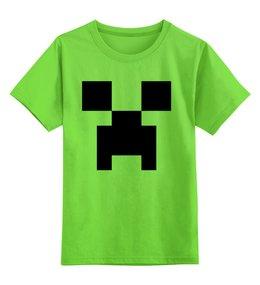"Детская футболка классическая унисекс ""Крипер (Creeper)"" - крипер, creep, майнкрафт, mob, моб"