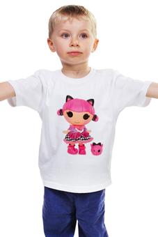 """Детская футболка """"КОШКА КИТИ.ИГРУШКА. МУЛЬТ. KITTY."""" - кошка, kitty, кукла, мульт, кити"""
