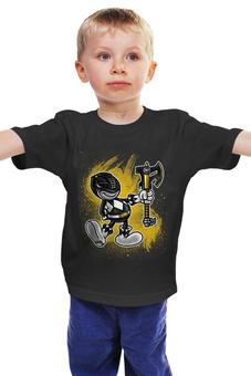 """Детская футболка """"Чёрный Рейнджер"""" - самурай, могучие рейнджеры, токусацу, чёрный рейнджер"""