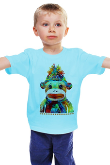 """Детская футболка классическая унисекс """"Обезьяна. Символ 2016 года"""" - обезьяна, символ нового года, 2016, символ 2016"""