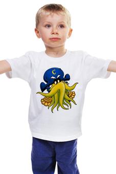 """Детская футболка """"Капитан Ктулху"""" - ктулху, осьминог, лавкрафт"""
