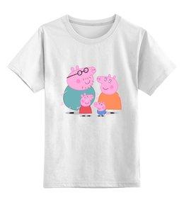 """Детская футболка классическая унисекс """"Свинка Пеппа"""" - pig, свинка пеппа, peppa, пеппа, peppa pig"""