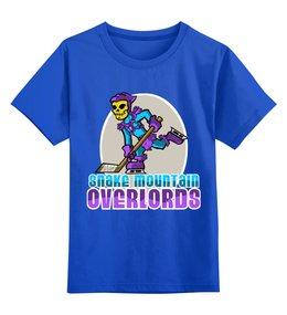 """Детская футболка классическая унисекс """"Скелетор"""" - властелины вселенной, скелет, masters of the universe, skeletor, череп"""
