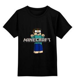 """Детская футболка классическая унисекс """"Minecraft """" - minecraft, майнкрафт"""