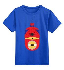 """Детская футболка классическая унисекс """"Миньоны  """" - spider man, человек паук, minions, миньоны"""