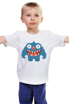 """Детская футболка классическая унисекс """"Зубастик"""" - персонаж, мультфильм, чудовище, чудище, зубатый"""