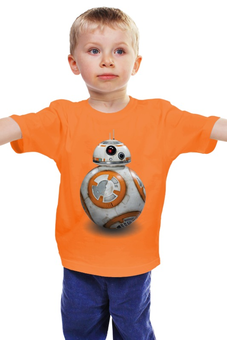 "Детская футболка ""Star Wars / Звездные войны Дроид BB8"" - star wars, звездные войны, r2d2, bb8"