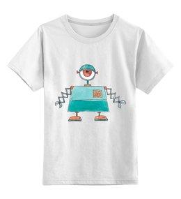 """Детская футболка классическая унисекс """"Робот"""" - рисунок, детский, робот, гуманоид, механический"""