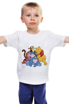 """Детская футболка классическая унисекс """"Винни пух"""" - винни пух, тигра, пятачок, иа"""