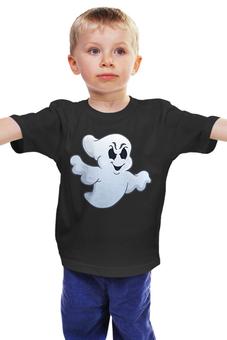 """Детская футболка классическая унисекс """"Привидение"""" - праздник, хэллоуин, интересная, необычная, привидение"""