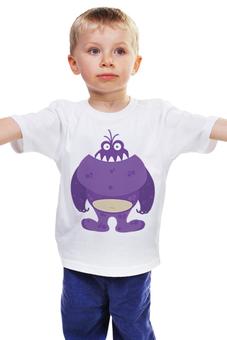 """Детская футболка классическая унисекс """"Зубастик"""" - персонаж, мультфильм, чудовище, зубастик, чудище"""