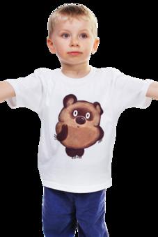 "Детская футболка ""Винни Пух (made in Russia)"" - мультфильм, мишка, советский, винни-пух, winnie the pooh"