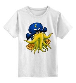 """Детская футболка классическая унисекс """"Капитан Ктулху"""" - ктулху, осьминог, лавкрафт"""