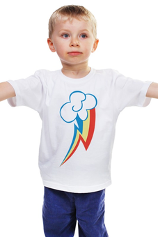 "Детская футболка ""Rainbow Dash / Рейнбоу Дэш"" - арт, rainbow dash, рейнбоу дэш"