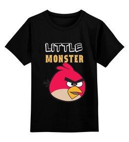 "Детская футболка классическая унисекс ""angry bird"" - little monster, angry bird"